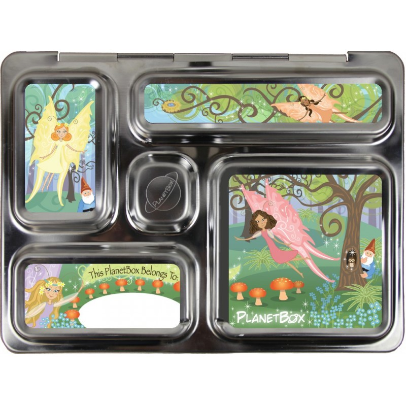 PlanetBox Rover Kit PINK FAIRIES (Box, Containers, Magnets, Carry Bag)
