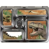 PlanetBox Rover Kit DINOSAUR (Box, Containers, Magnets, Carry Bag)