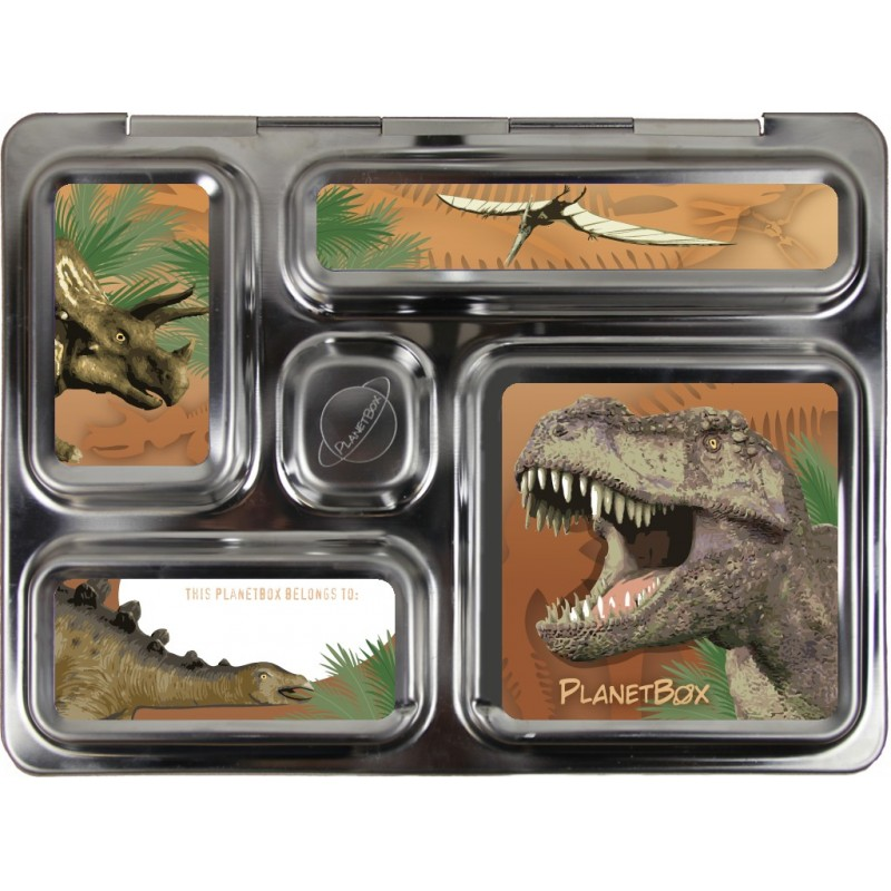 PlanetBox Rover Kit DINOSAUR (Box, Containers, Magnets)