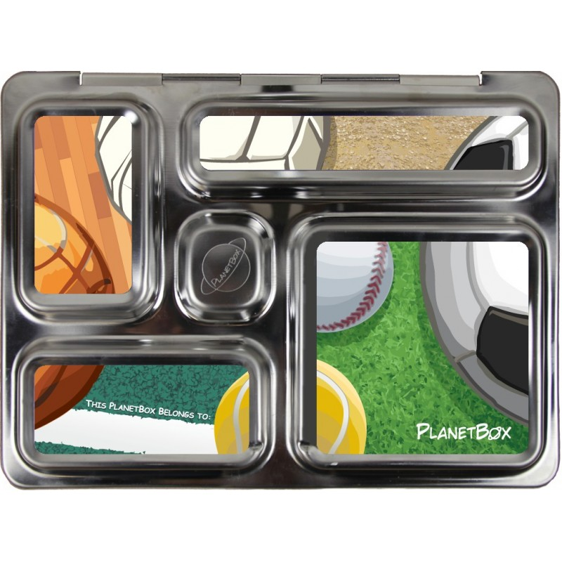 PlanetBox Rover Kit SPORTS BALLS (Box, Containers, Magnets)