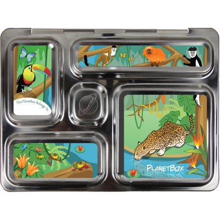 PlanetBox Rover Kit RAINFOREST (Box, Containers, Magnets, Carry Bag)
