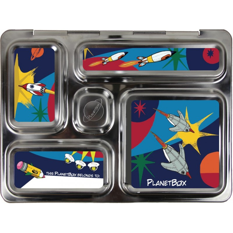 PlanetBox Rover Kit ROCKETS (Box, Containers, Magnets)