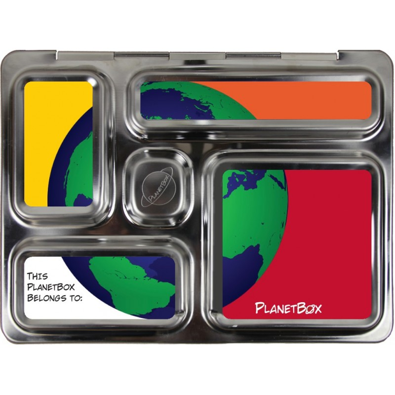 PlanetBox Rover Kit GREEN GLOBE (Box, Containers, Magnets)