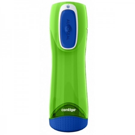 Contigo 500ml autoseal plastic water bottle - swish citron green