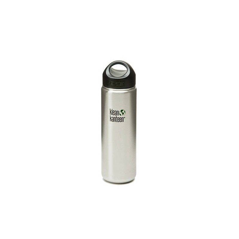 Klean Kanteen Wide Mouth 27oz 800ml Water Bottle - Brushed Silver