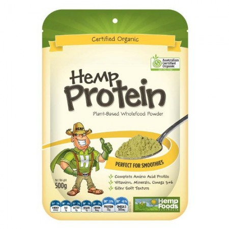 Hemp Foods Hemp Protein Powder Certified Organic 500g