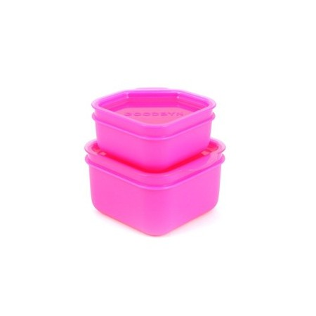 Goodbyn dipper set 2 leak proof containers - pink