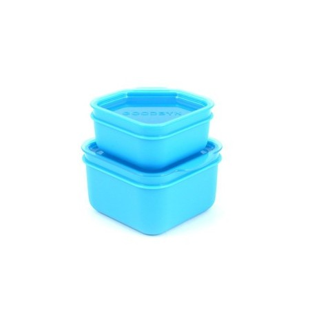 Goodbyn dipper set 2 leak proof containers - blue