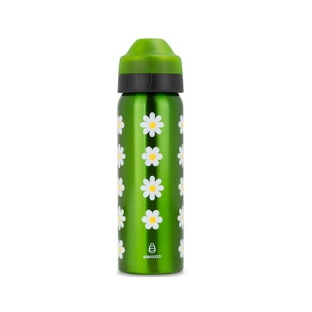 Ecococoon 600ml Daisies Stainless Steel Water Bottle