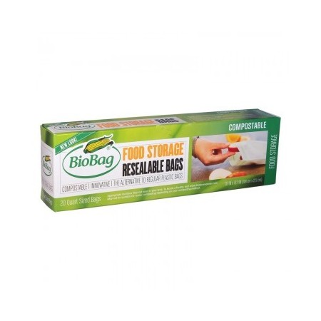 BioBag resealable food storage bags (20)