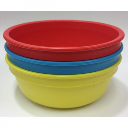 Re-Play recycled bowls (3) - primary colours (blue, red & yellow)