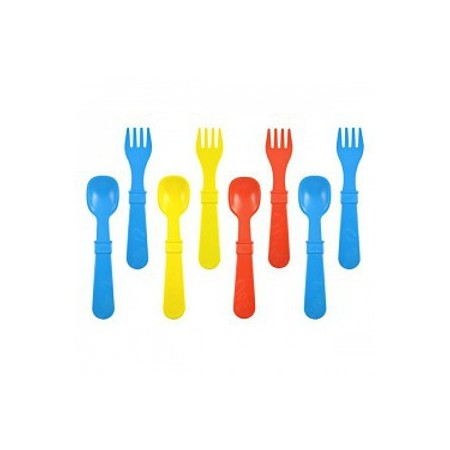 Re-Play utensils pack of 8 - primary colours (blue, red, yellow)