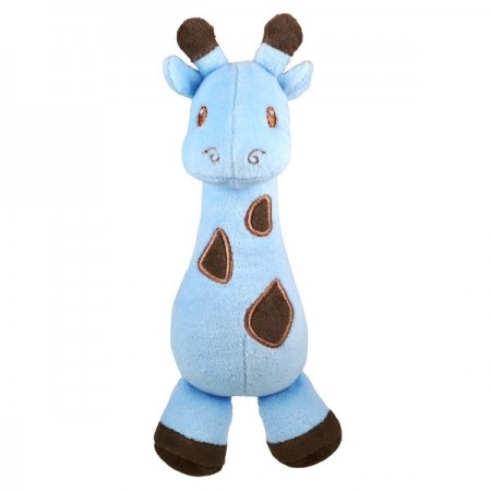 Dandelion Soft Rattle - Blue Giraffe