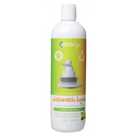 Ecologic lemon & lime dishwashing liquid 500ml