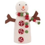 Fairtrade felt decoration - standing snowman