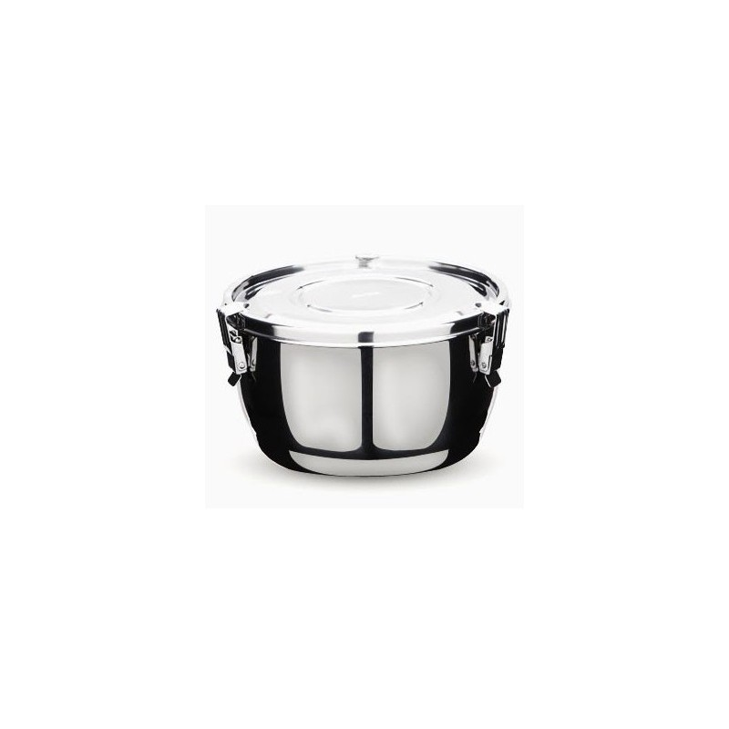 Onyx stainless steel airtight round container 14cm 1L