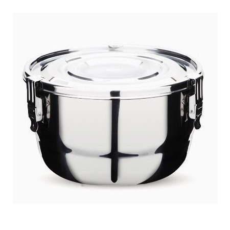 Onyx stainless steel airtight round container 16cm 1.5L