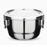 Onyx stainless steel airtight round container 12cm 710ml