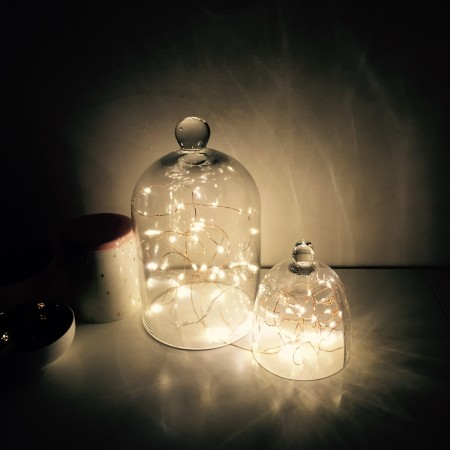 LED copper wire string lights 10m  Power plug in