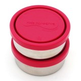 U Konserve Small 5oz Round Stainless Steel Containers (2) - Magenta