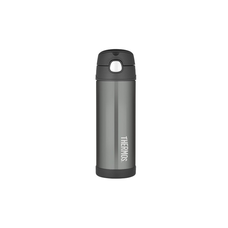 Thermos FUNtainer Insulated Stainless Steel Bottle 470ml - Charcoal