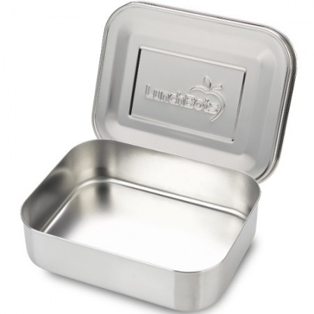 LunchBots Medium Stainless Steel Lunch Box - Uno Silver