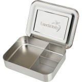 LunchBots Large Stainless Steel Lunch Box - Trio Silver