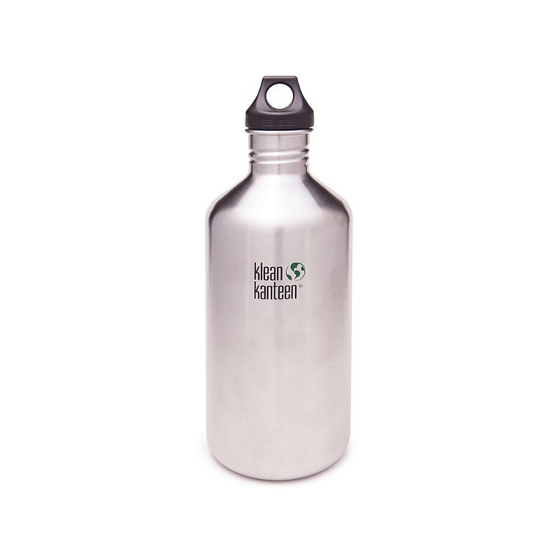 Klean Kanteen classic 64oz 1.9L bottle - brushed stainless