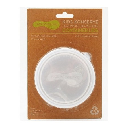 Kids Konserve replacement lids (2) medium 8oz 235ml - clear