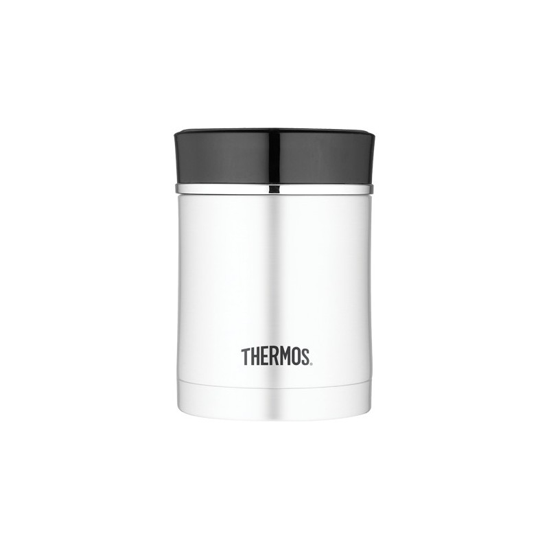 Thermos double wall food jar black trim 470ml 16oz