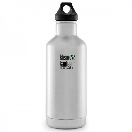 Klean Kanteen classic insulated 32oz 946ml bottle - brushed steel