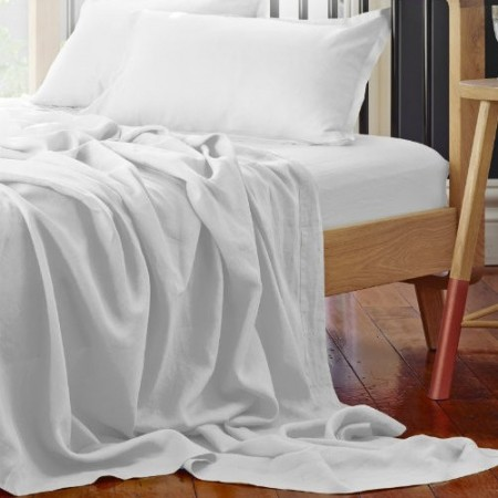 Pure Linen Double Sheet Set - Cloud