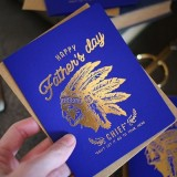 Letterpress foil card - happy father's day chief