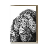 Marini Ferlazzo greeting card - monte the bornean orangutan