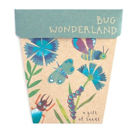 Sow 'n Sow gift card with seeds - bug wonderland