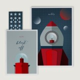 One Hectare notebook set - blast off
