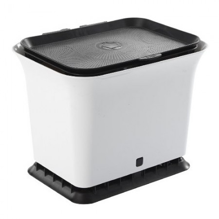 Full Circle Fresh Air kitchen compost collector Black