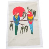 The Linen Press - Eastern Rosella Tea Towel