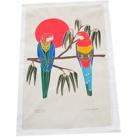 The Linen Press Organic Tea Towel by Tatiana Clauzet - Eastern Rosella