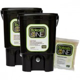 Bokashi compost bin two bin set - 2 x black