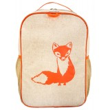 SoYoung Raw Linen Toddler Backpack (single) - Orange Fox