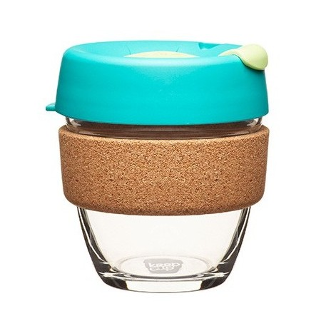 KeepCup small glass cup cork band 8oz (227ml) � thyme