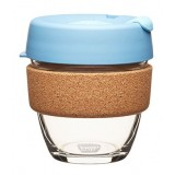 KeepCup small glass cup cork band 8oz (227ml) � rock salt