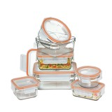 Glasslock Oven Safe Rimless Glass Containers Set 7 Piece