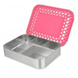 LunchBots Bento Box Cinco Pink Dots