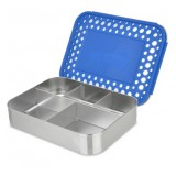 LunchBots Bento Box Cinco Blue Dots