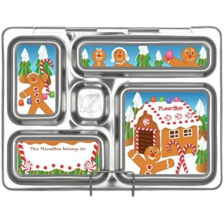 PlanetBox Rover Kit GINGERBREAD (Box, Containers, Magnets, Carry Bag)