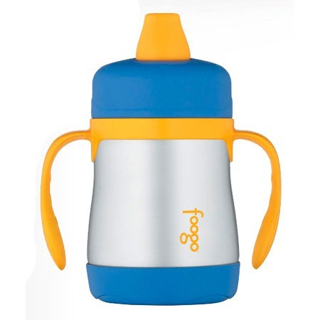 Thermos Foogo stainless steel sippy cup - blue