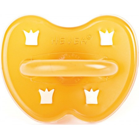 Hevea Natural Rubber Soother - Rounded 0 - 3 months crown