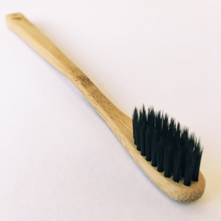 Charcoal Toothbrush Bamboo Adult Soft - Single Brush
